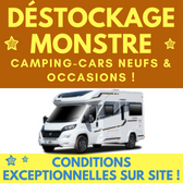 DÉSTOCKAGE MONSTRE CAMPING CARS