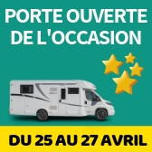Porte Ouverte camping-cars d'occasions