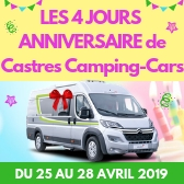 ANNIVERSAIRE CASTRES CAMPING-CARS